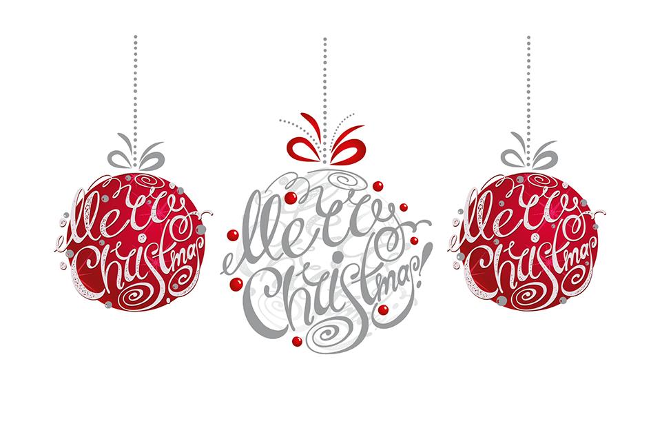 BA954 Merry Christmas Baubles